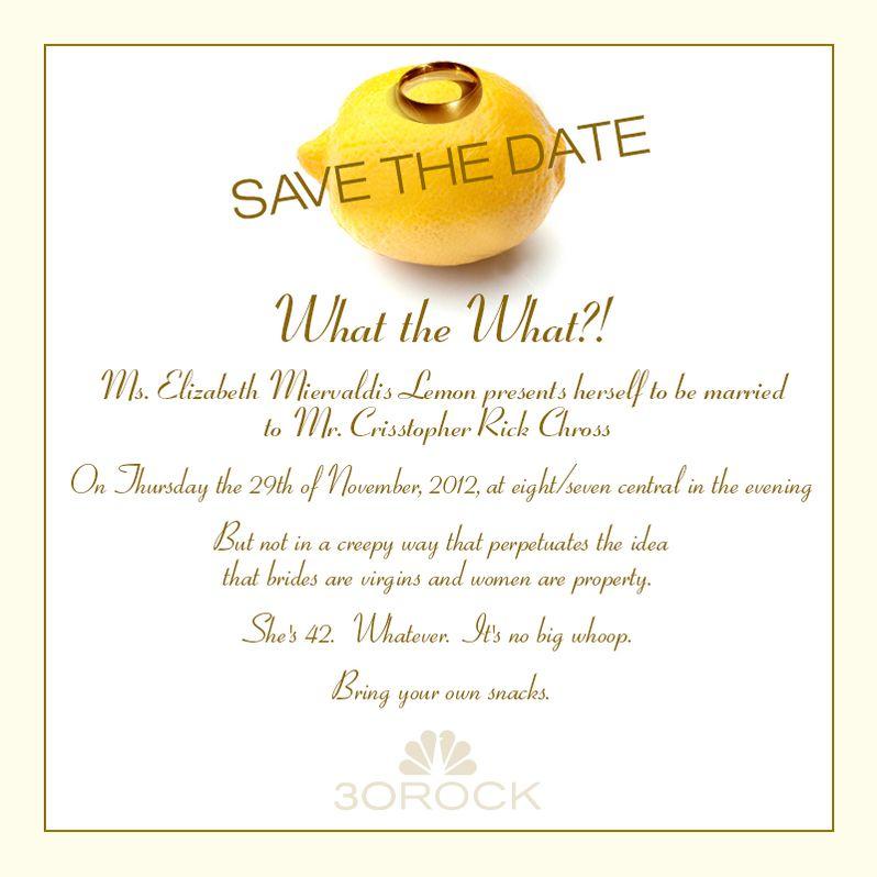 <strong><em>30 Rock</em></strong> Wedding Invite