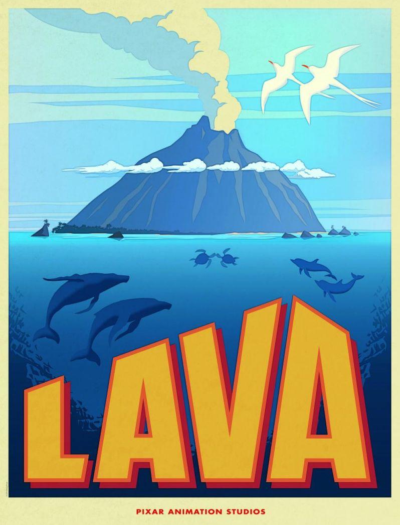 <strong><em>Lava</em></strong> Poster Pixar
