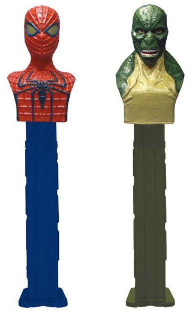 Lizard and Spider-Man PEZ Dispensers