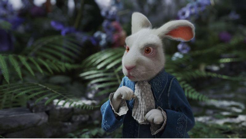 Michael Sheen as the White Rabbit in Alice in Wonderland