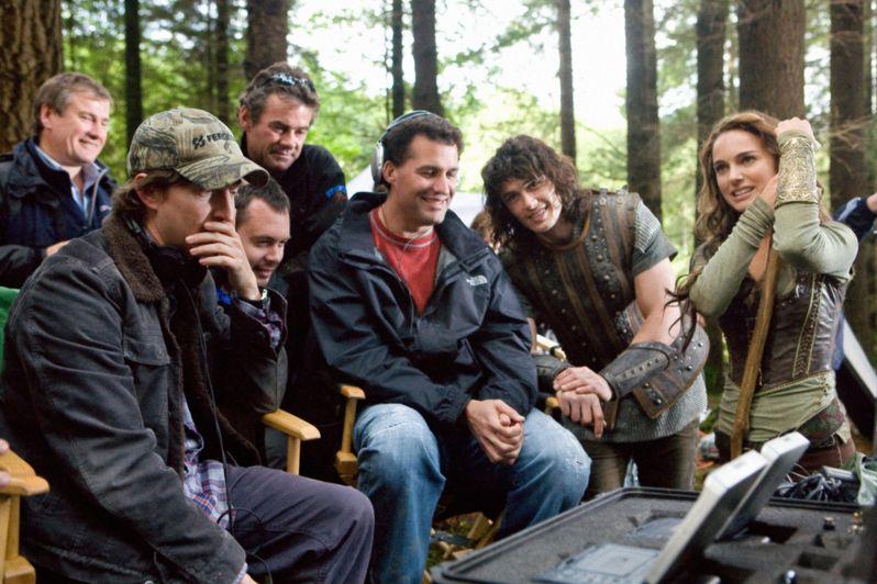 David Gordon Green, James Franco and Natalie Portman