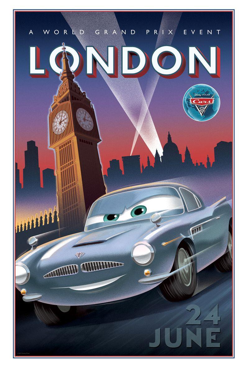<strong><em>Cars 2</em></strong> Retro Poster #4