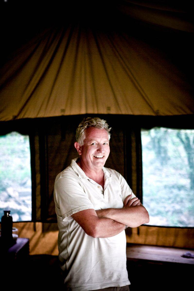 Keith Scholey in Africa