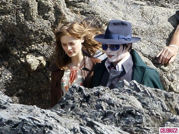 Johnny Depp as Barnabas Collins on the <strong><em>Dark Shadows</em></strong> Set #1