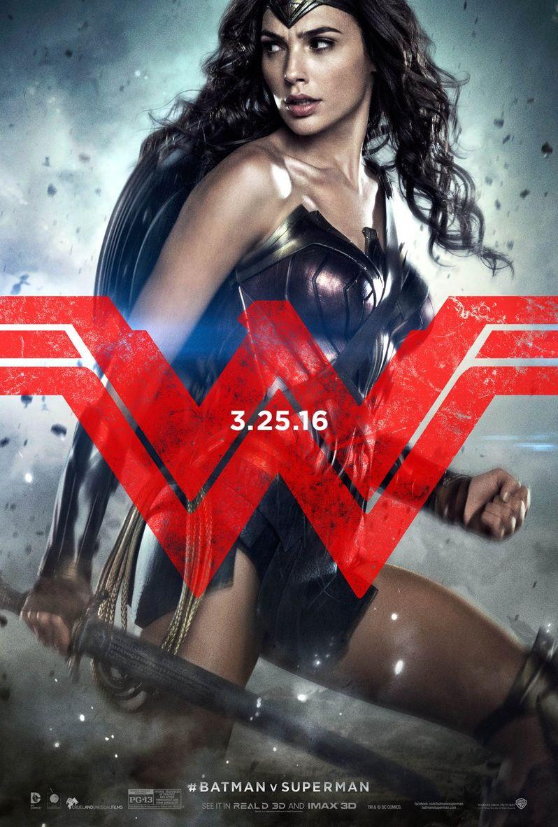 Batman v Superman Wonder Woman Character Poster