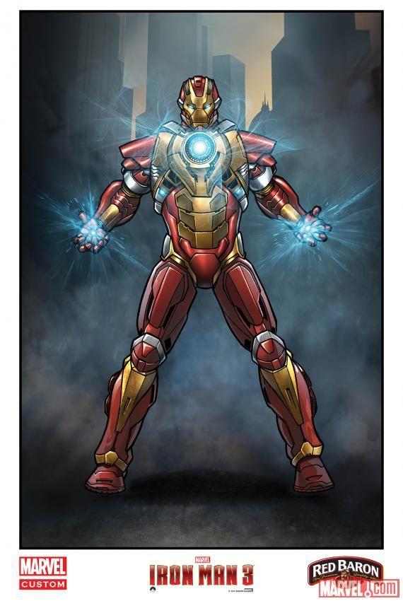 <strong><em>Iron Man 3</em></strong> Comic Art Poster 4