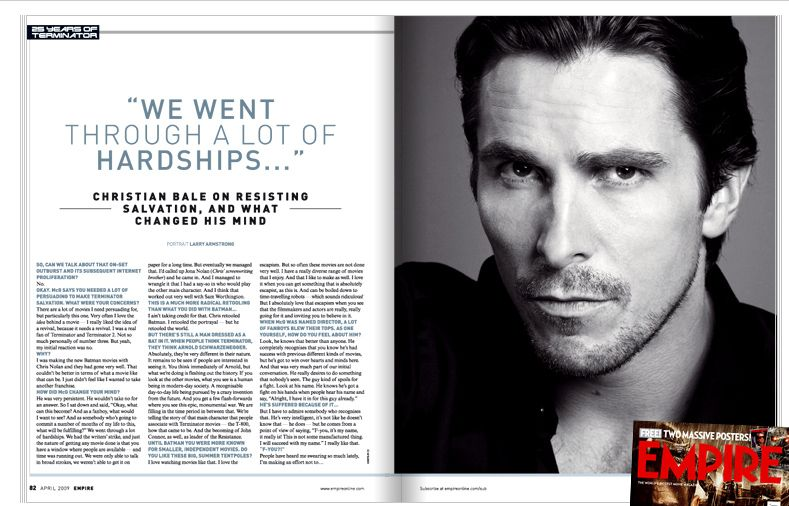 <strong><em>Terminator Salvation</em></strong> Empire Magazine #3