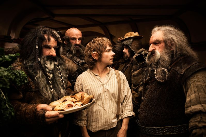 William Kircher, Graham McTavish, Martin Freeman, James Nesbitt and John Callen in The Hobbit