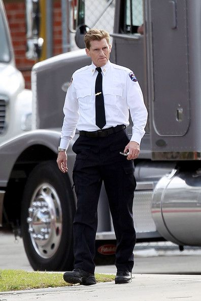 Denis Leary on the set of Spider-Man #5