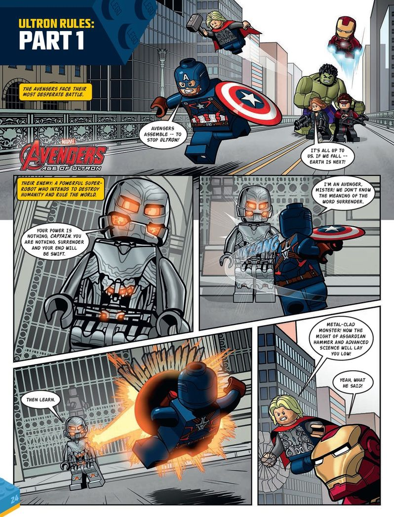 Avengers: Age of Ultron LEGO Comic Shows an Epic Battle