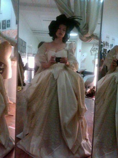 Milla Jovovich Three Musketeers costume fittings #6