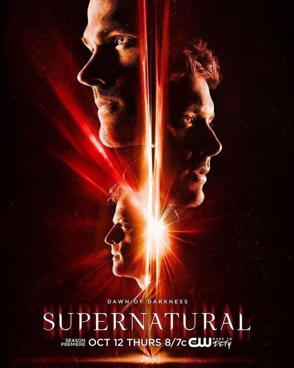 <strong><em>Supernatural</em></strong> Season 13 Poster Dawn of Darkness