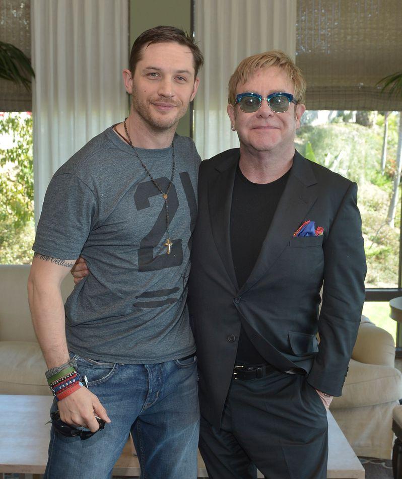 <strong><em>Rocketman</em></strong> Tom Hardy and Elton John Photo