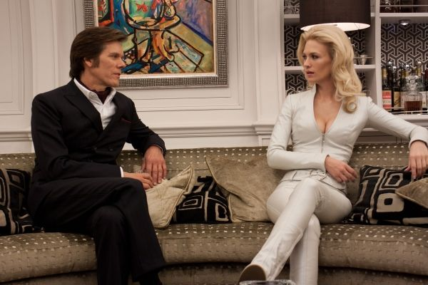 Kevin Bacon and January Jones in X-Men First Class