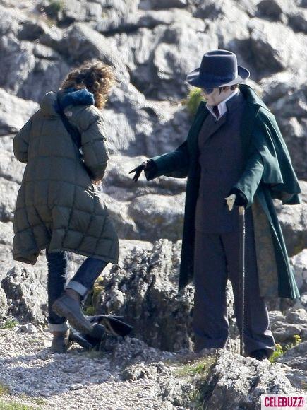 Johnny Depp as Barnabas Collins on the <strong><em>Dark Shadows</em></strong> Set #4
