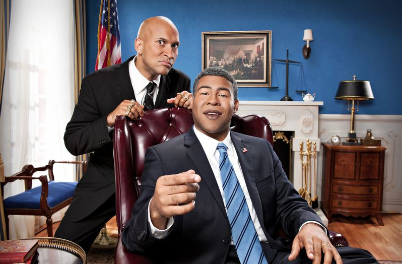 <strong><em>Key & Peele</em></strong> Obama and Luther Photo