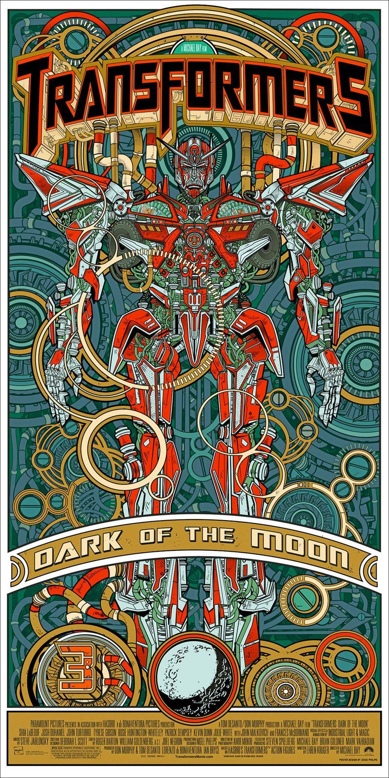 Transformers Dark of the Moon Alamo Drafhouse Poster #2