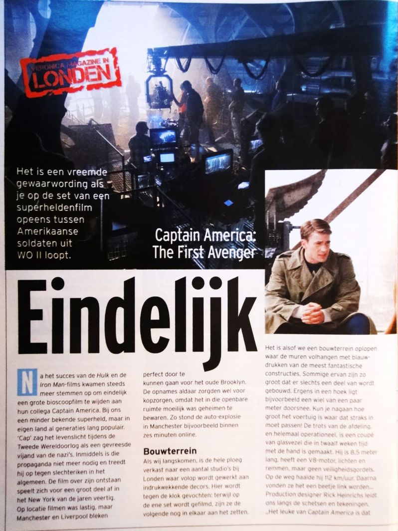 <strong><em>Captain America: The First Avenger</em></strong> magazine photo #1