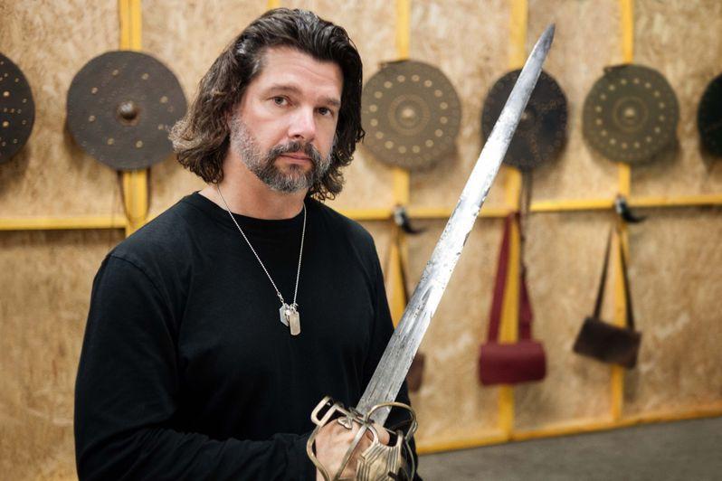 Ronald D. Moore <strong><em>Outlander</em></strong> Set Photo