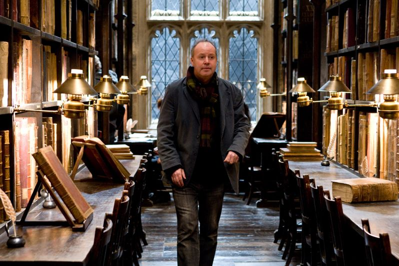 Director David Yates on the set of Harry Potter 6