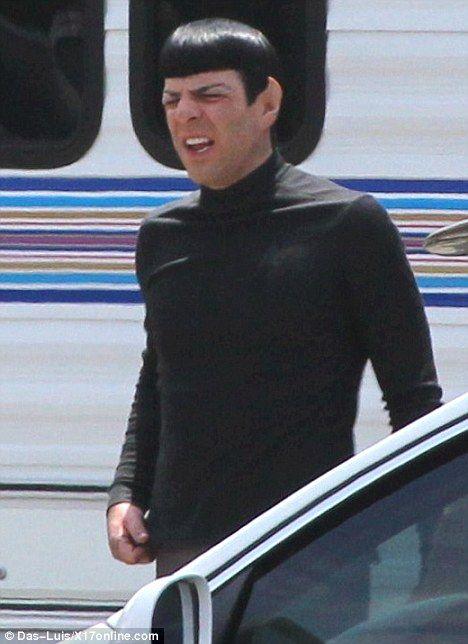 Spock Scowls Star Trek 2 Set Photos #1