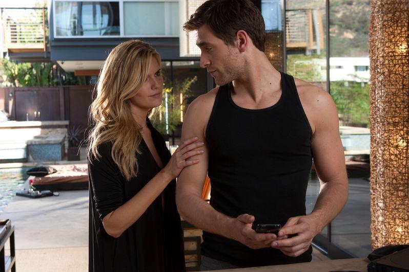 Oliver Jackson-Cohen and Maggie Grace in <strong><em>Faster</em></strong>