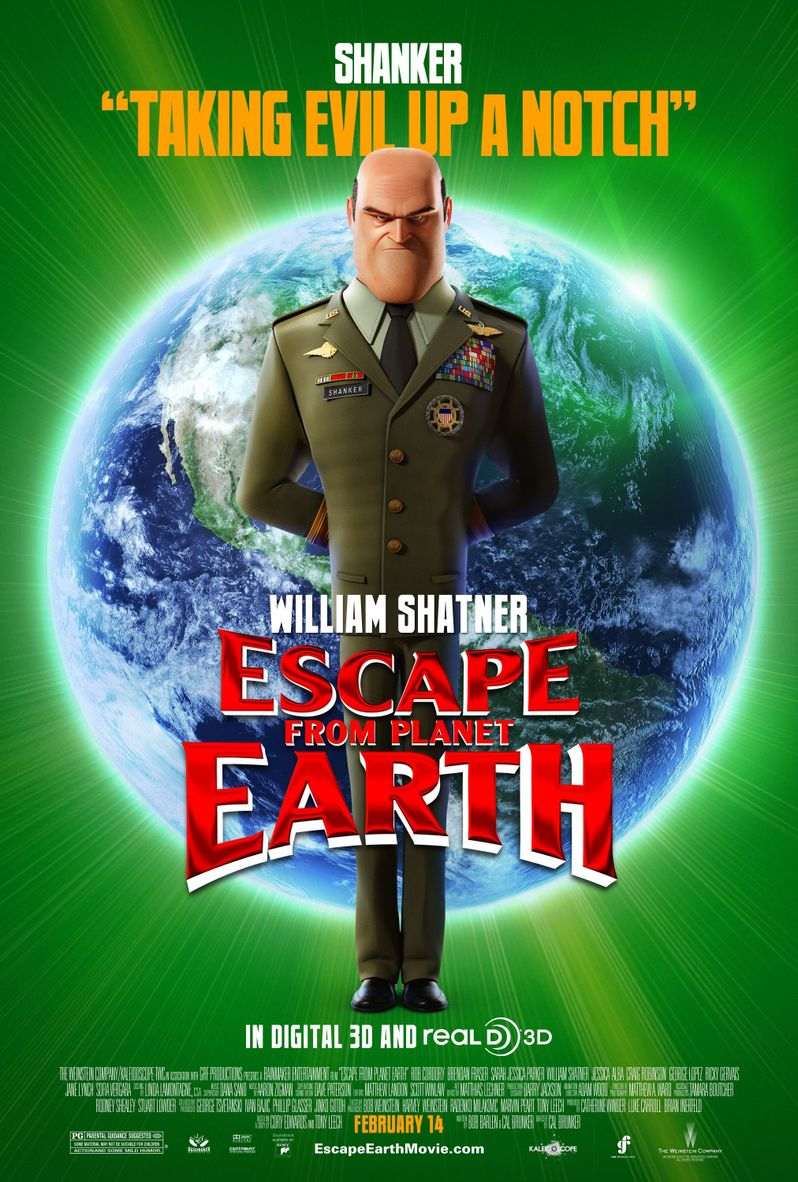Escape From Planet Earth Agent Shanker Character Poster