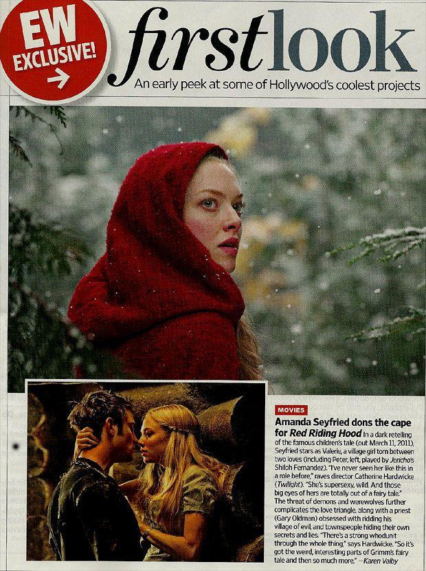 Amanda Seyfried as <strong><em>Red Riding Hood</em></strong>