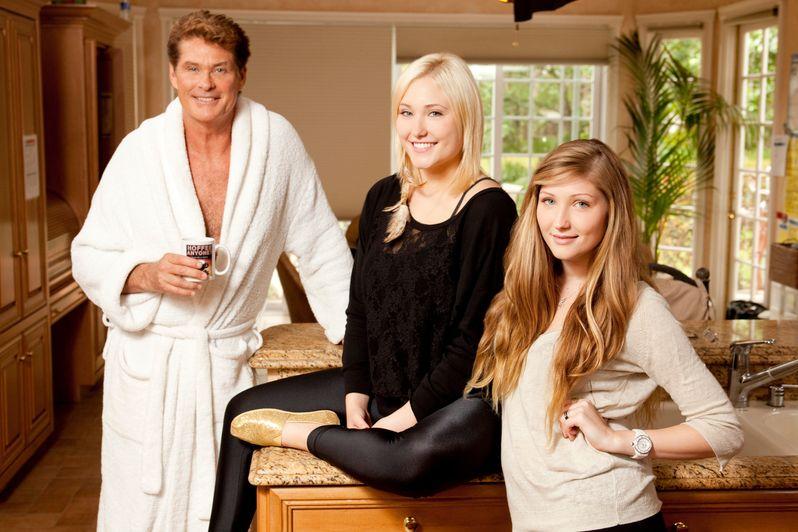 David Hasselhoff, Hayley hasselhoff and Taylor-Ann Hasselhoff