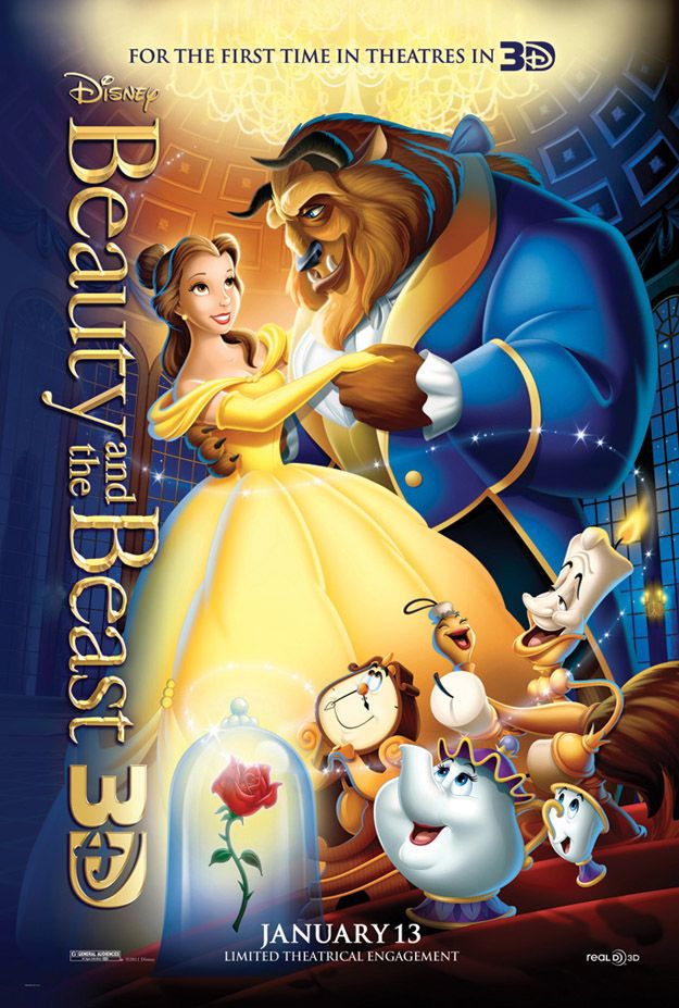 <strong><em>Beauty and the Beast</em></strong> 3D Poster