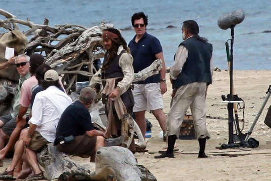 Johnny Depp Back as Jack Sparrow on the set of Pirates 4
