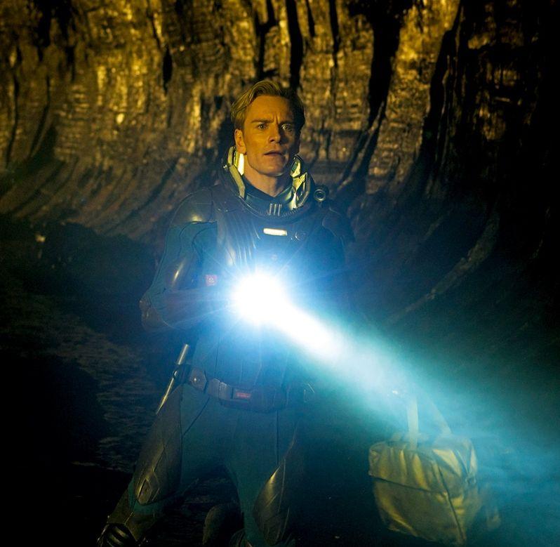 Michael Fassbender in <strong><em>Prometheus</em></strong>