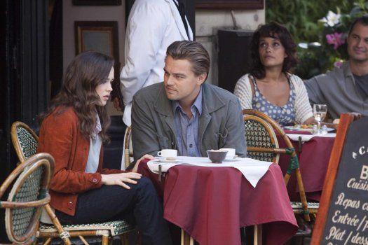 Leonardo DiCaprio and Ellen Page in <strong><em>Inception</em></strong>