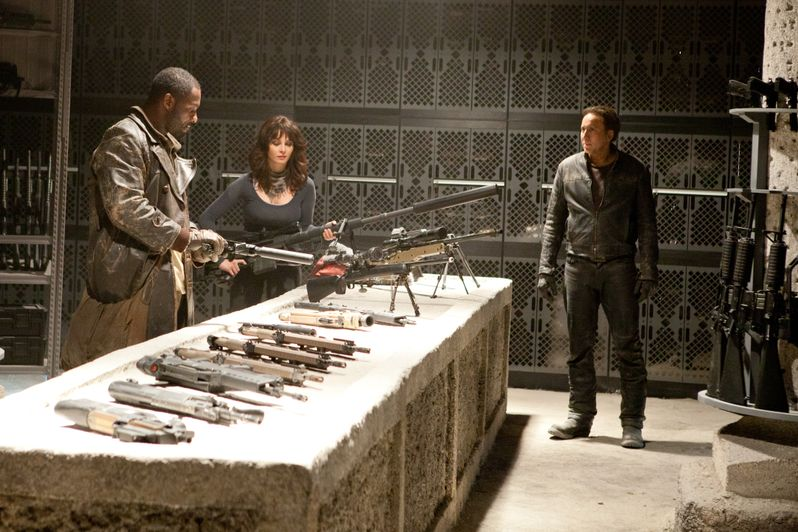 Idris Elba, Violante Placido and Nicolas Cage in Ghost Rider: Spirit of Vengeance