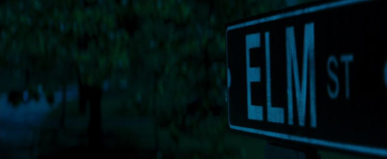 The Elm Street Sign in New Line Cinemas' horror film, A Nightmare On Elm Street