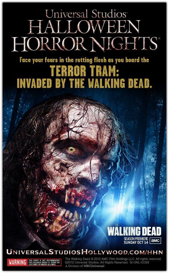 Halloween Horror Nights Walking Dead Terror Tram Promo Art