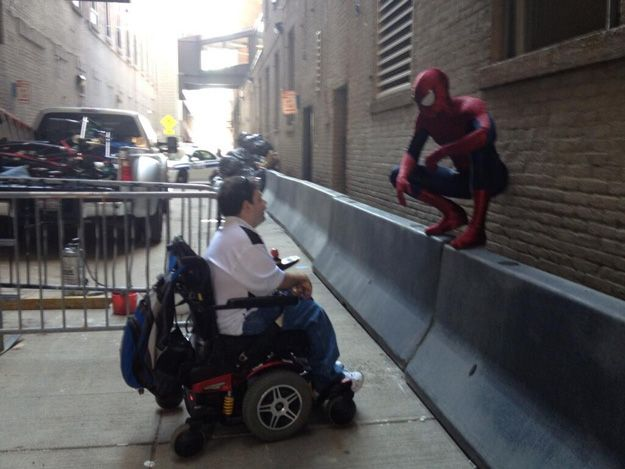 The Amazing Spider-man 2 Meets Justin On Set