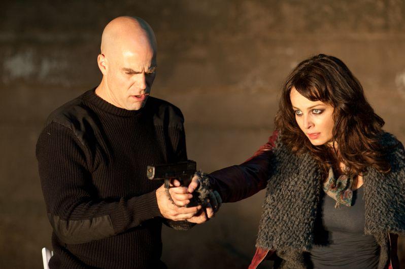 Brian Taylor filming a scene with Violante Placido