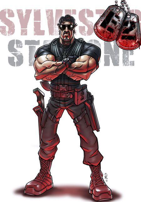 <strong><em>The Expendables 2</em></strong> Promo Art #1