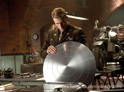 Chris Evans in <strong><em>Captain America: The First Avenger</em></strong>