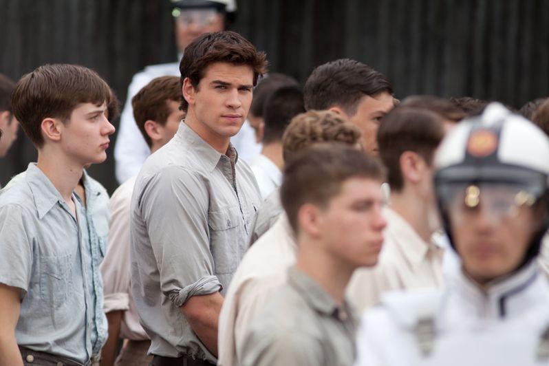Liam Hemsworth in <strong><em>The Hunger Games</em></strong>