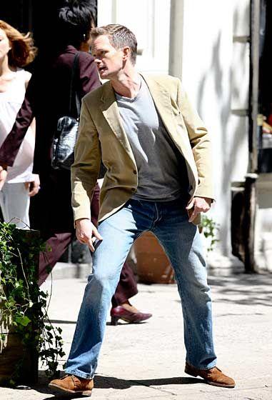 Neil Patrick Harris on the set of <strong><em>The Smurfs</em></strong>