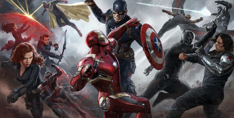 Captain America Civil War Fight Art