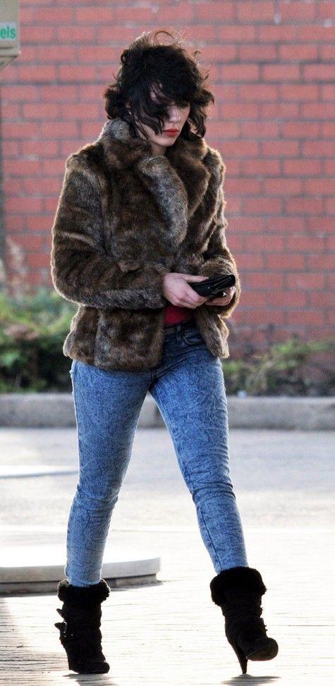 Scarlett Johansson on the set of <strong><em>Under the Skin</em></strong> #3