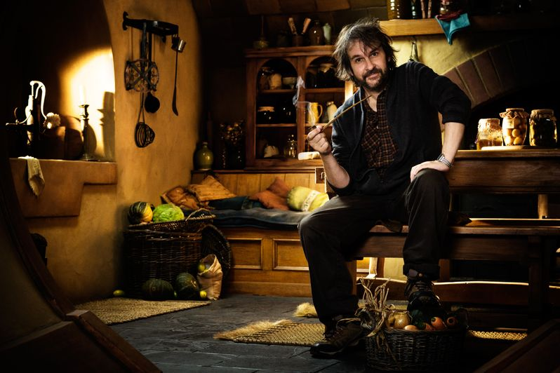 Peter Jackson on the set of The Hobbit #2