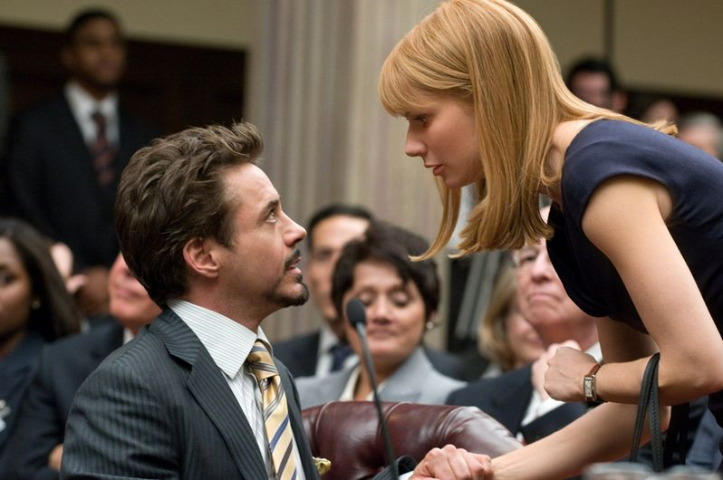Robert Downey Jr. and Gwyneth Paltrow in <strong><em>Iron Man 2</em></strong>