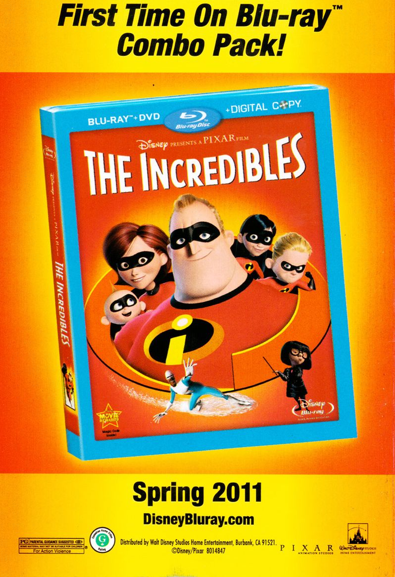 <strong><em>The Incredibles</em></strong> Blu-ray flier