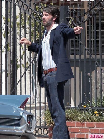 Ben Affleck on the set of <strong><em>Argo</em></strong> #2