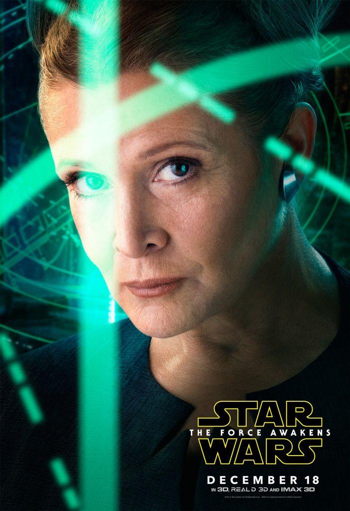 Star Wars 7 Character Poster Princess Leia