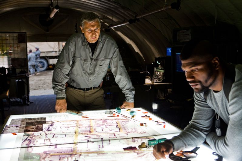 Liam Neeson and Quinton 'Rampage' Jackson